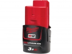 MILWAUKEE M12B3 AKUMULATOR 12V 3,0Ah 4932451388