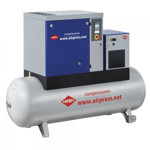 AIRPRESS KOMPRESOR ŚRUBOWY APS 7,5 BASIC COMBI DRY 500L 364957-8 846L/MIN 8 bar